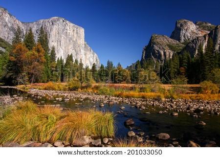 El Capitan in Yosemite National Park, California - stock photo