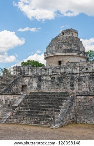 El Caracol, ancient observatory temple in Chichen Itza, Mexico