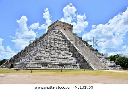 El Castillo, Chichen Itza - Mayan ruins, Mexico - stock photo