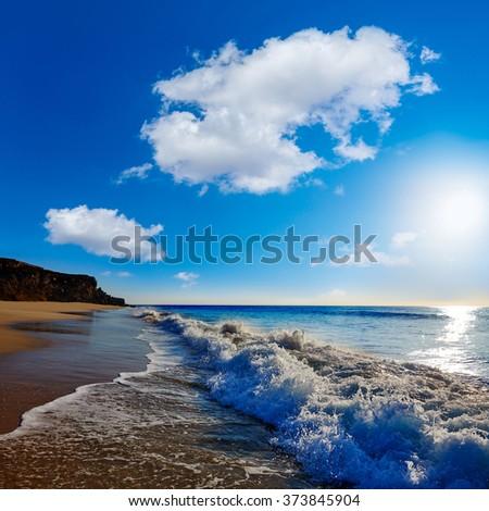 El Cotillo Castillo Beach in Fuerteventura at Canary Islands of Spain - stock photo