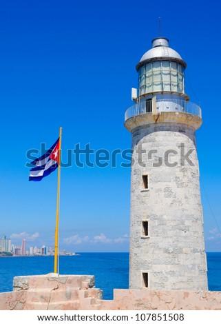 El Morro castle an historic landmark in Havana, Cuba - stock photo