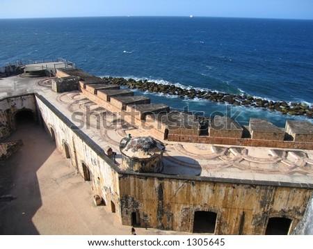 El Morro Fort in San Juan, Puerto Rico - stock photo
