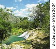 El Nicho waterfall, Cienfuegos Province, Cuba - stock photo