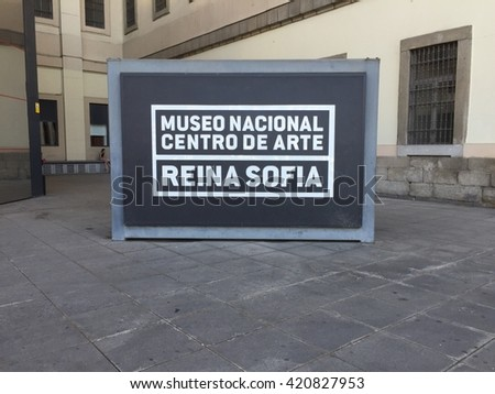 El Reina Sofia sign taken July 8, 2015 in Madrid, ES