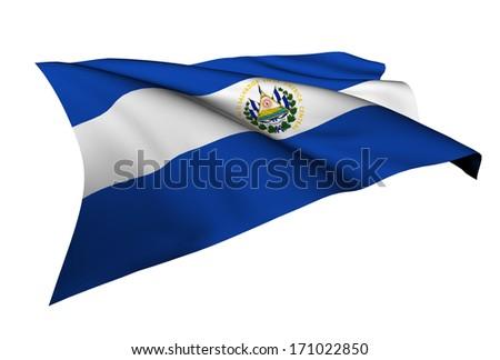 El Salvador flag - - stock photo