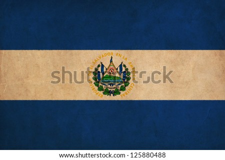 El Salvador flag drawing ,grunge and retro flag series - stock photo