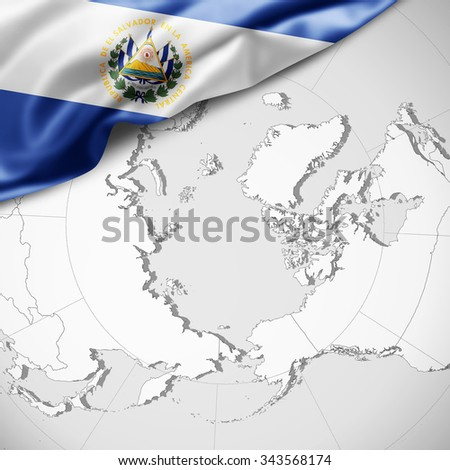 Stock Images similar to ID 9990688 el salvador button flag map