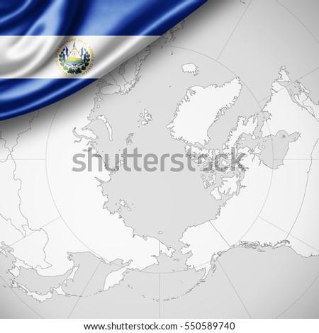 Abstract Waving El Salvador Flag Over Stock Illustration 508501594