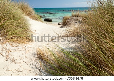 Elafonisi beach (Crete Greece) - stock photo