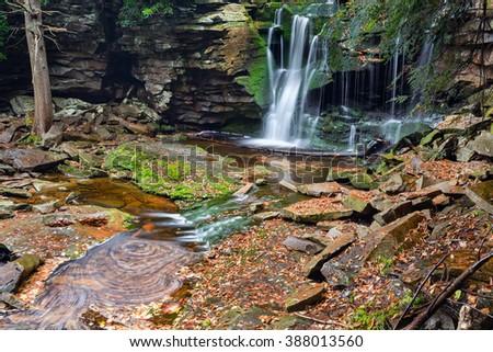 Elakala Falls - Canaan Valley, West Virginia, Blackwater waterfalls cascade - stock photo