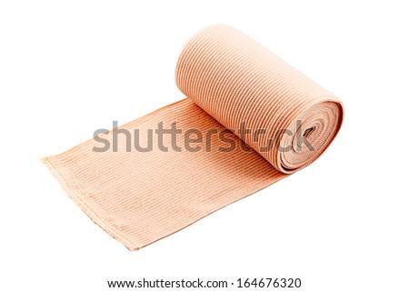 elastic bandage isolate on the white background  - stock photo