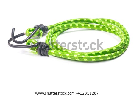 Elastic straps rope isolated on the white