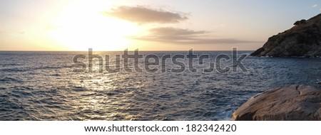 Elba Island , Italy - September 15-22, 2012. the beaches and the interior territory of the island. - stock photo
