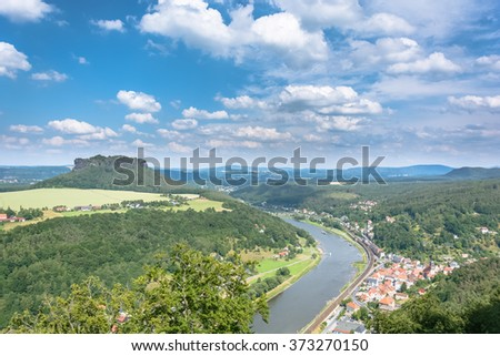 Elbe river at Konigstein.