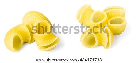 Elbow Pasta On White