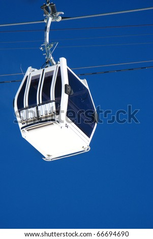 Elbrus Cableway against the blue sky