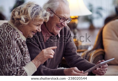 Elderly Using Elderly Husband And Wife Using