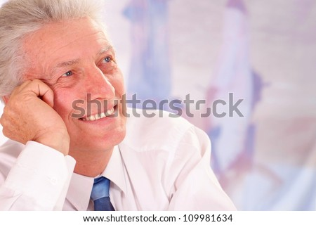 Elderly people, working in very different fields of activity - stock photo