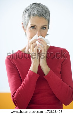 Elderly Person With Rhinitis