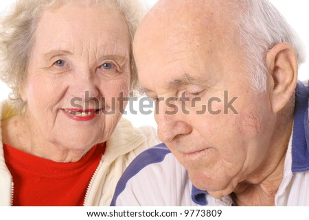 elderly senior couple - stock photo