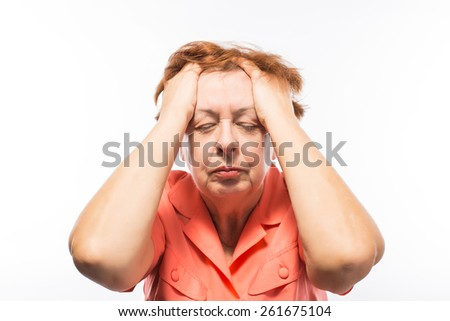 elderly woman depression - stock photo