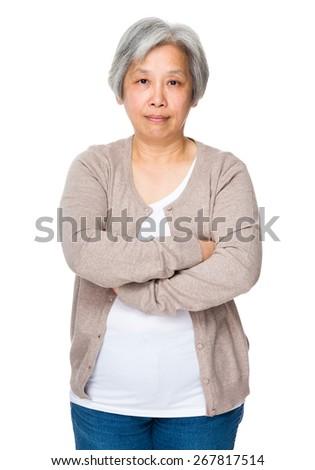 Elderly woman portrait - stock photo