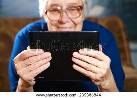 Elderly Using The Internet Senior People Using Internet