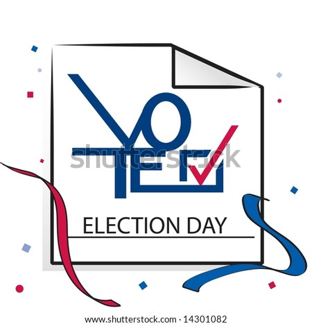 Election day calendar page with VOTE graphic in JPEG/TIFF format. (Image ID for vector version: 14214037) - stock photo