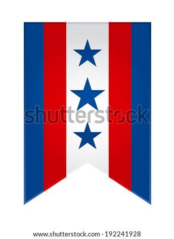 Election flag USA icon. Raster copy of vector file. - stock photo