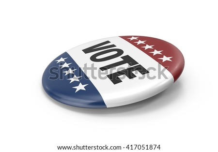 election vote button 3d rendering - stock photo