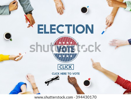 Election Vote Government Choice Voting Concept - stock photo