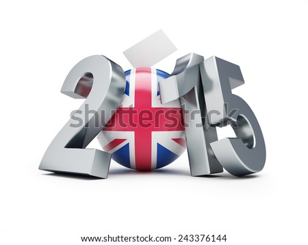 elections in England 2015 3d Illustrations on a white background - stock photo