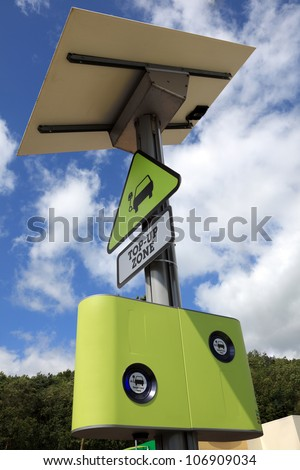 Electric and hybrid cars top up zone - stock photo