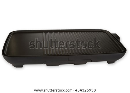 Electric Barbecue isolated on white background - stock photo