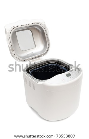 electric bread maker on a white background - stock photo
