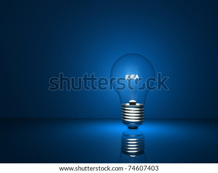 electric bulb concept - stock photo