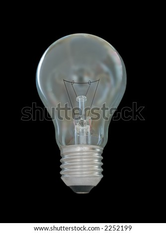 Electric bulb on dark background, isolated