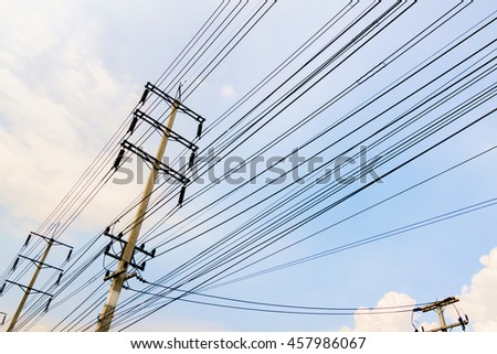 Electric cable post in thailand