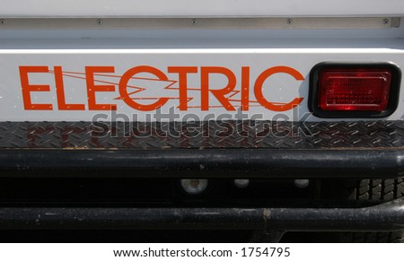 Electric car. - stock photo