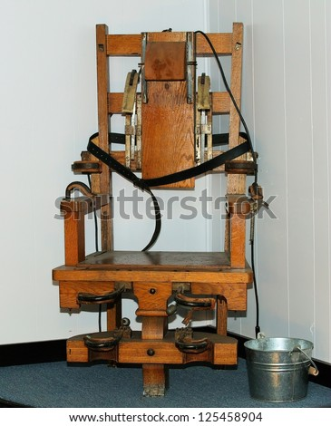 "Electric chair ""Old Sparky"" used in electrocution of condemned prisoners - stock photo"