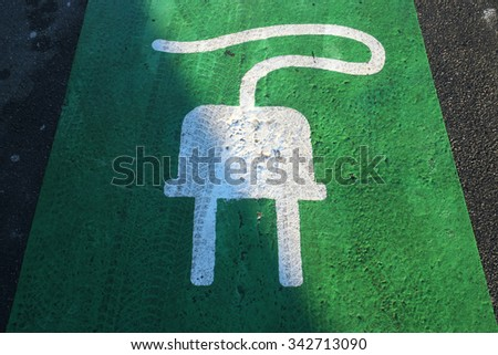 Electric Charging - stock photo