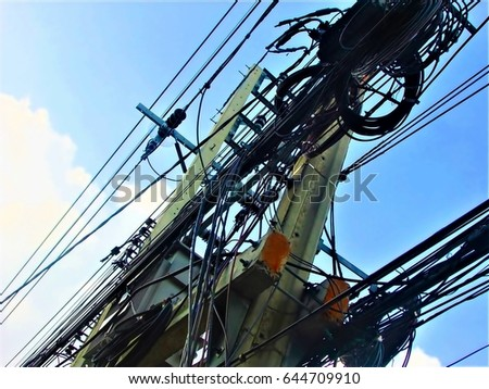 Electric clutter in Thailand.