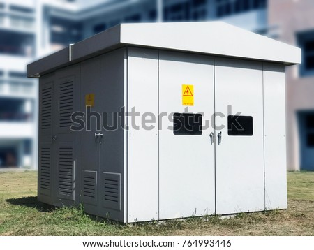 Electric Control High Voltage Relay House Stock Photo (Royalty Free ...
