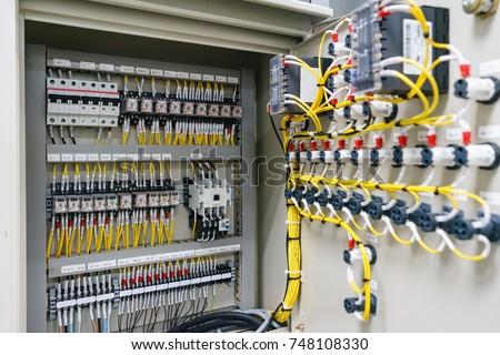 Electric Control Panel Enclosure Power Distribution Stock Photo ...