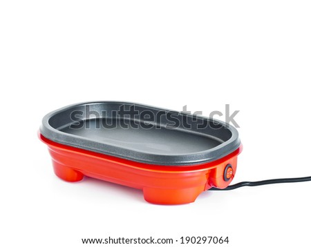 electric cooking pan isolated on white