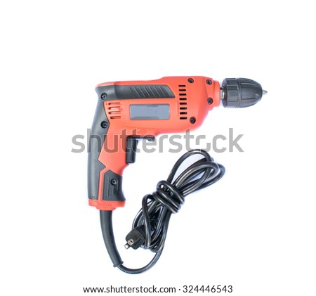 Electric drill  on white background