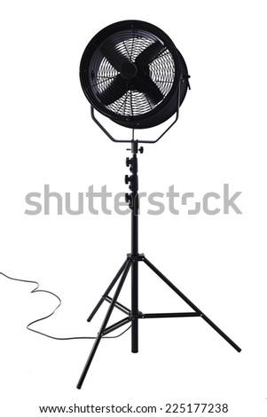 Electric fan against white background