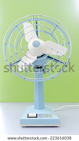 electric fan in fifties style - stock photo