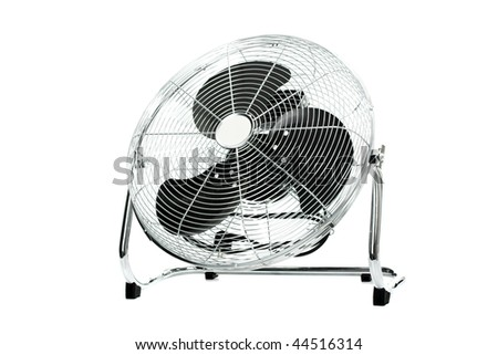 Electric fan isolated on the white background - stock photo