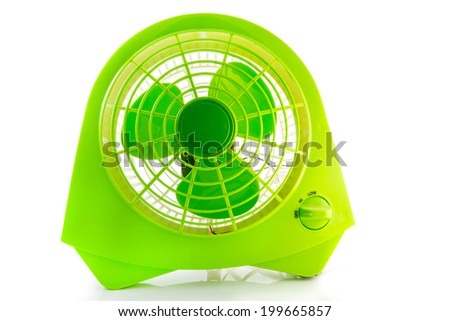 electric fan isolated white background